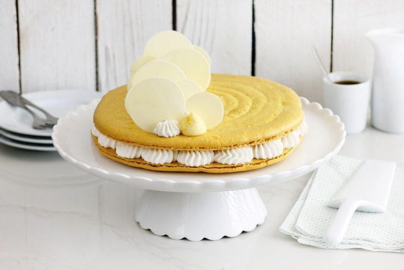 עוגת מקרון לימון, קוקוס ווניל