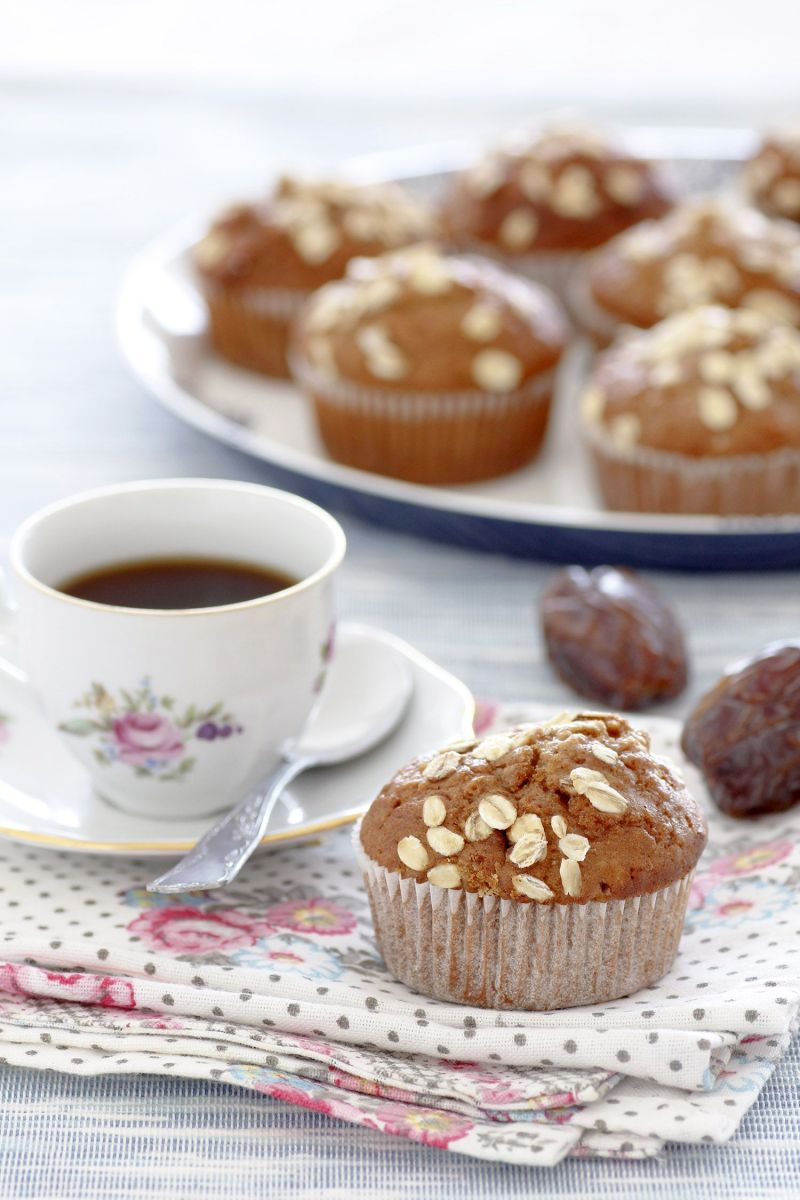 Whole Wheat Gingerbread Muffins with Dates