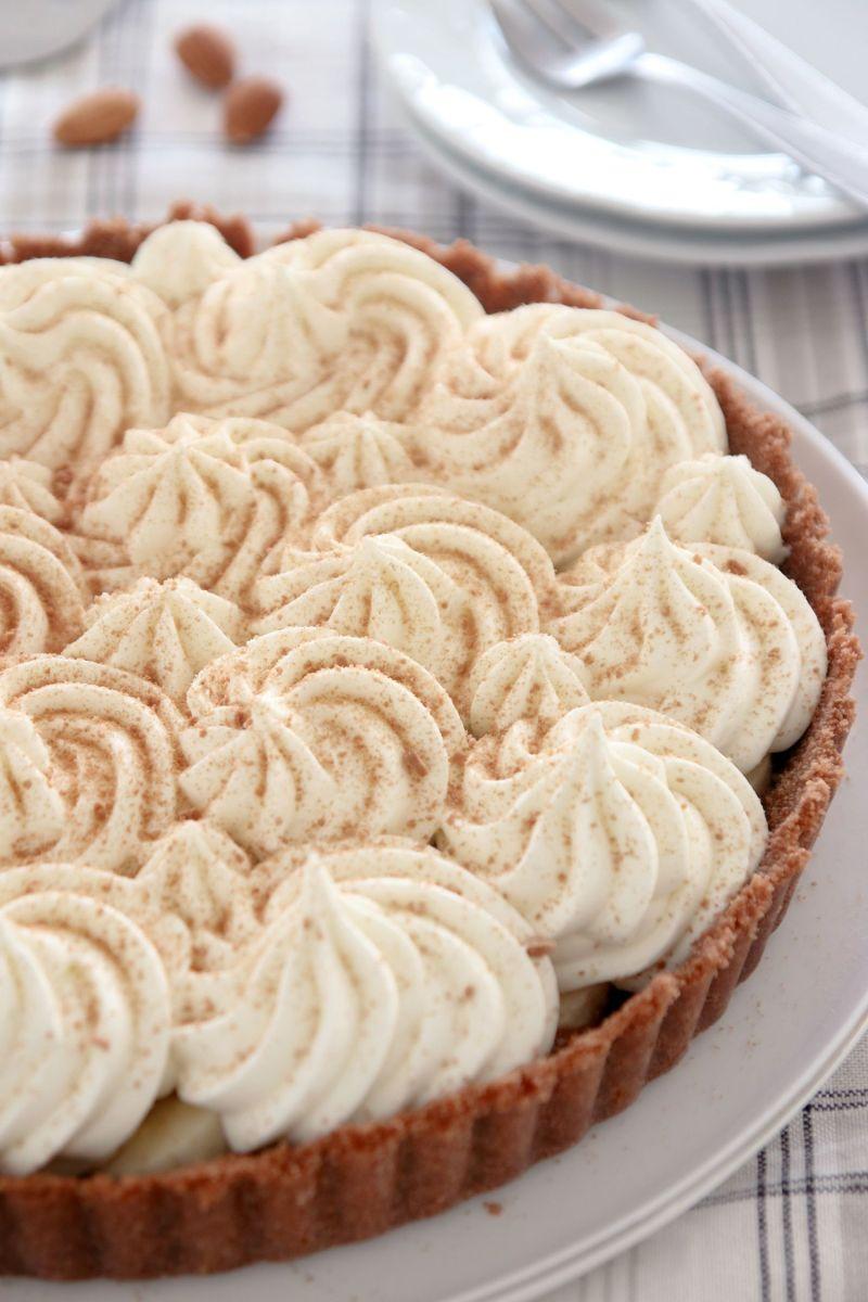 No Bake Banana Cream Pie with Dulce de Leche and Mascarpone