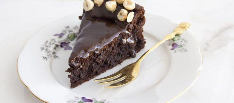 עוגת שוקולד, קפה ואגוזים