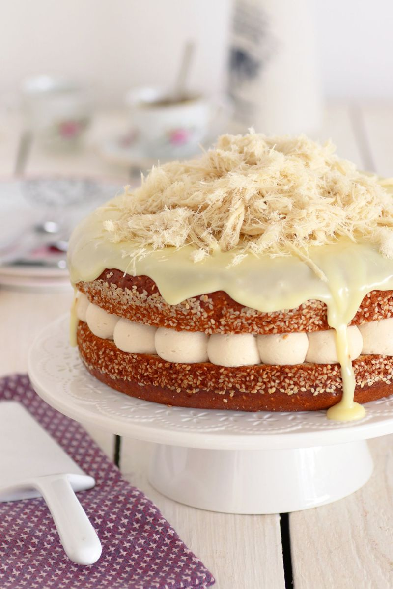 עוגת שכבות מסקרפונה, קפה וחלבה
