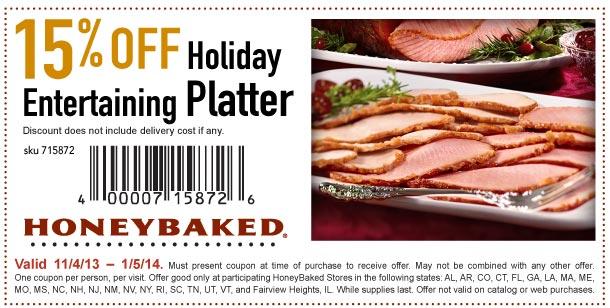 Honey baked ham coupons 2019