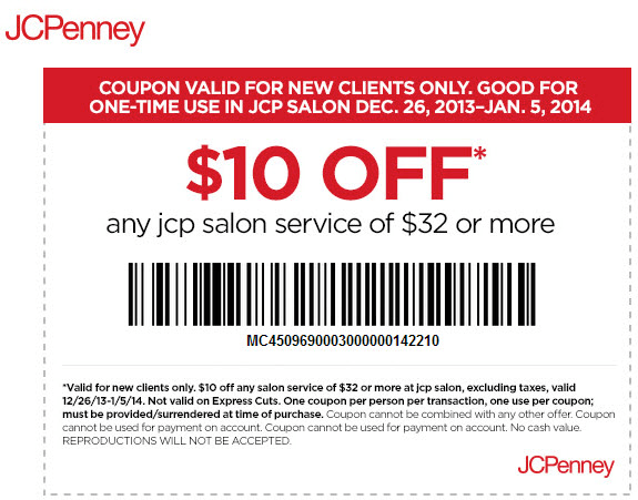 Out Coupons Cut Jcpenny