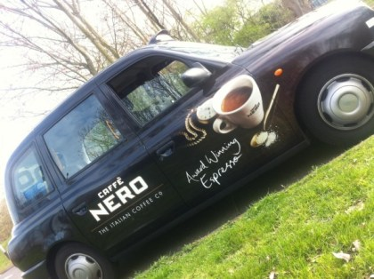 Out Of Home International - Caffe Nero - Taxi Advert