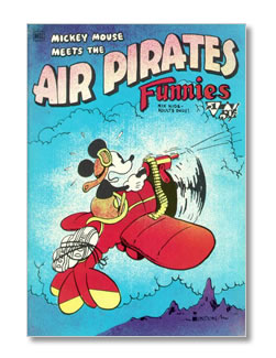 mickey and the air pirates, disney funnies, cover