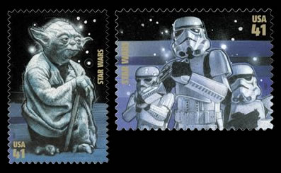 star.wars USPS, jedi stamps collection