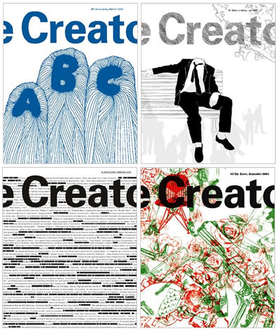 the creator studio magazine, covers