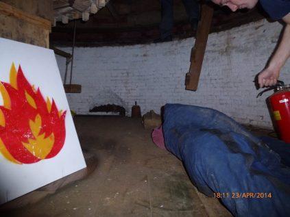De brand en het eerste slachtoffer.