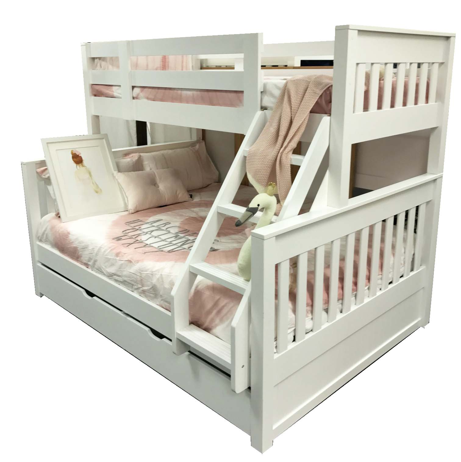 Riley Single Over Double Bunk Inc Trundle Out Of The Cot