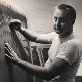 Richard Anuszkiewicz in his studio 1965