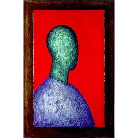 Richard Anuszkiewicz - Self Portrait - 1954