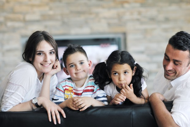 24834857 young family at home