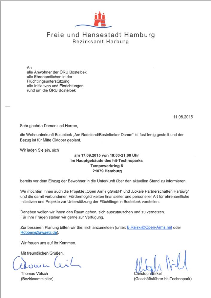 Einladung zur Informationsveranstaltung am 17.09.2015