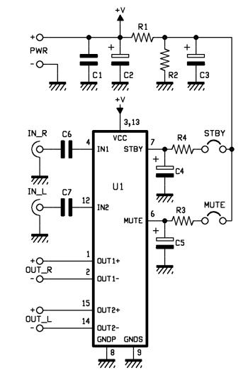 a versatile  powerful 10   10 w audio amplifier