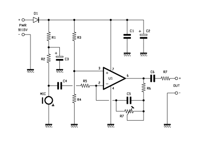 a mini microphone preamplifier open electronicsthe circuit requires a power supply between 9 and 15v as we\u0027ll see below, a higher voltage will result in a higher level of amplification