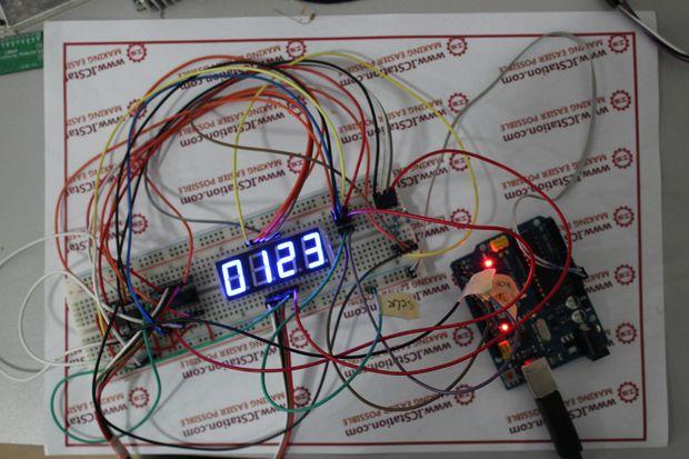 74HC595 Digital LED Display Based On Arduino Open