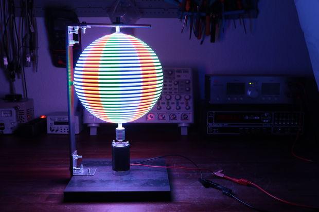 Diy Pov Rgb Led Globe Open Electronics