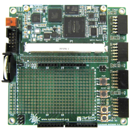 Spiderbase: the open source baseboard for Aries MX10 COM