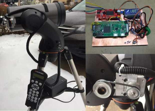 Raspberry Pi + Celestron127SLT = Hands-Free Telescope Focus System