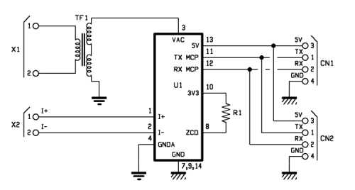Energy Meter module to analyze the electrical grid parameters and