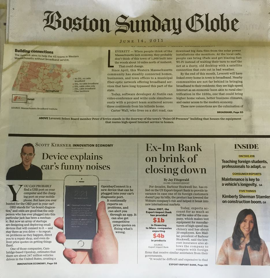 Openbay Covered This Sundays Boston Globe Business Section