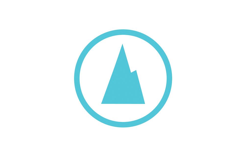 peak symbol white