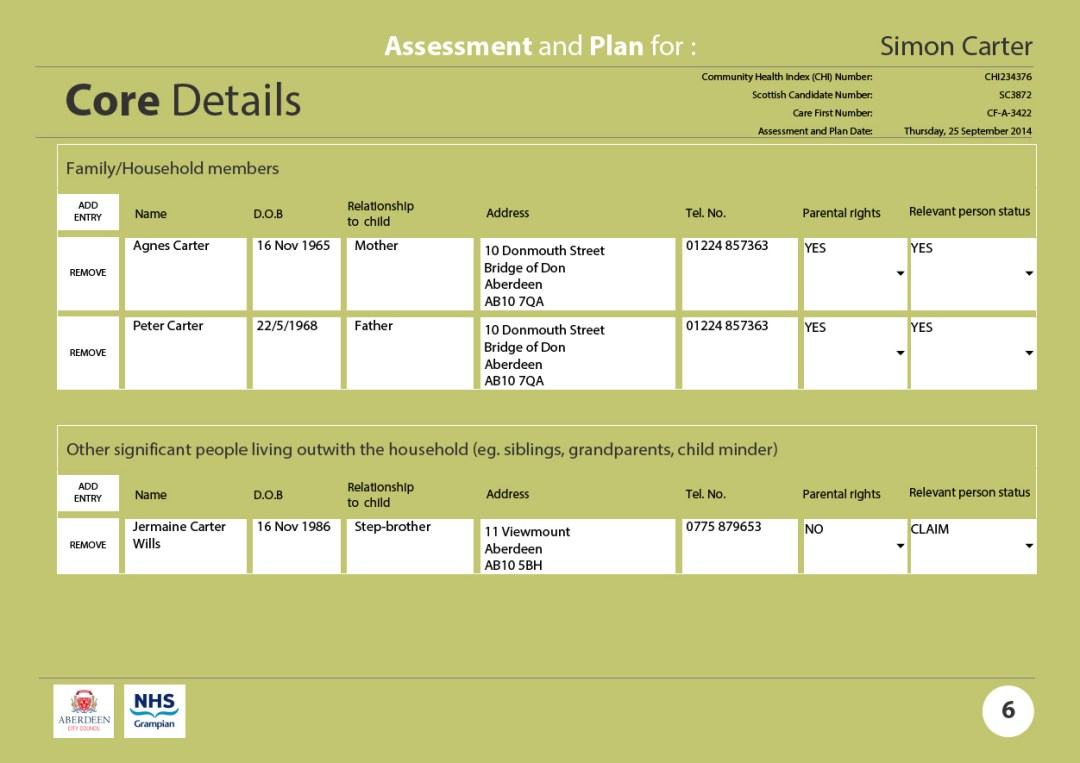 Assessment and Plan core details 3
