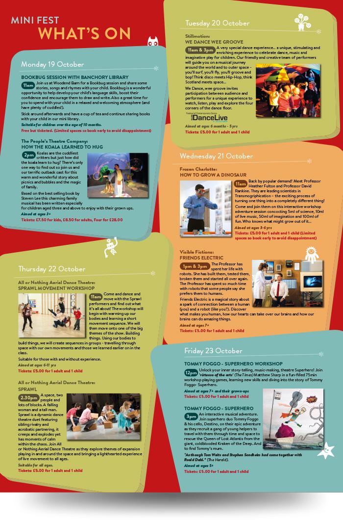 poster leaflet layout
