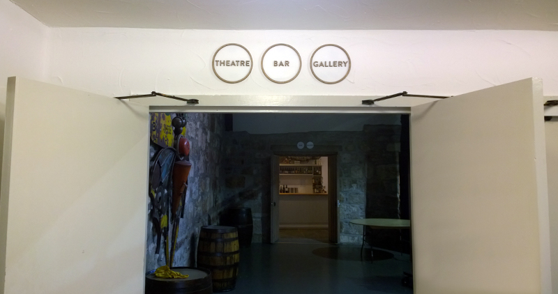 to theatre, bar and gallery