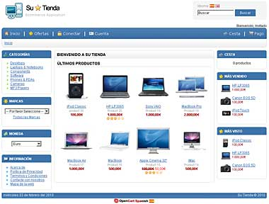 http://www.opencartspanish.com/demo/