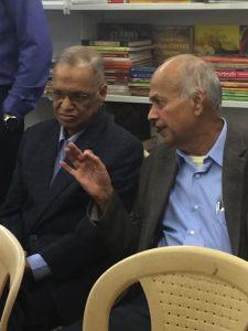 N.R Narayana Murthy with a friend.
