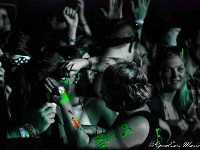 Painting faces during Robert DeLong at Sloss Fest. Photo By Mike Gerry