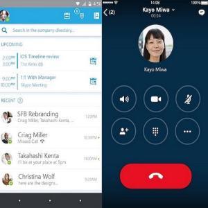 Skype entreprise ex Lync 2016 téléphonie VoIP et visioconférence professionnel pour Business