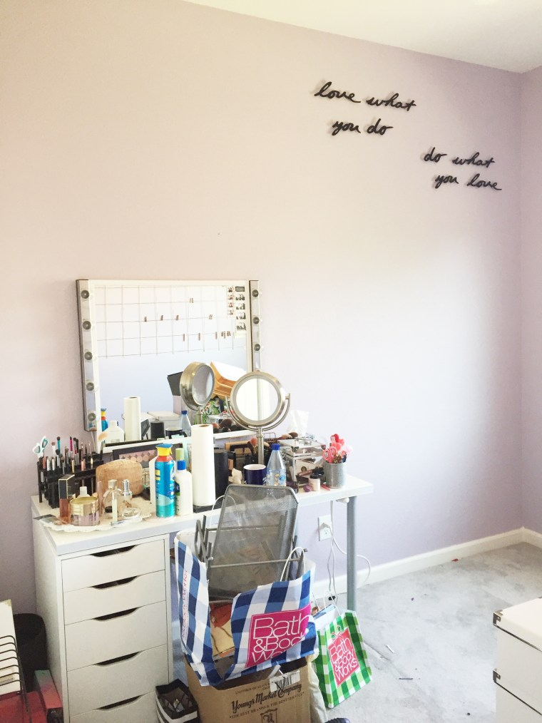 Designing Your Work Space Around Your Brand - Home Office Vanity Beauty Room Art Studio Makeover