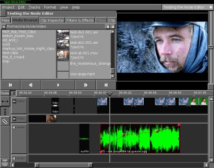 Open Movie Editor, editor de video Open Source