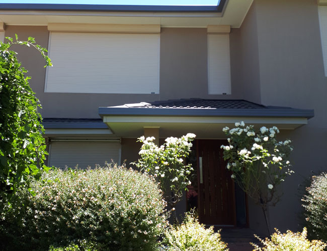 White Residential Roller Shutters Local to Adelaide