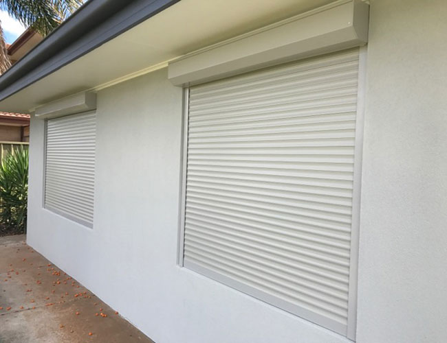 White Roller Shutters Local Adelaide Installation