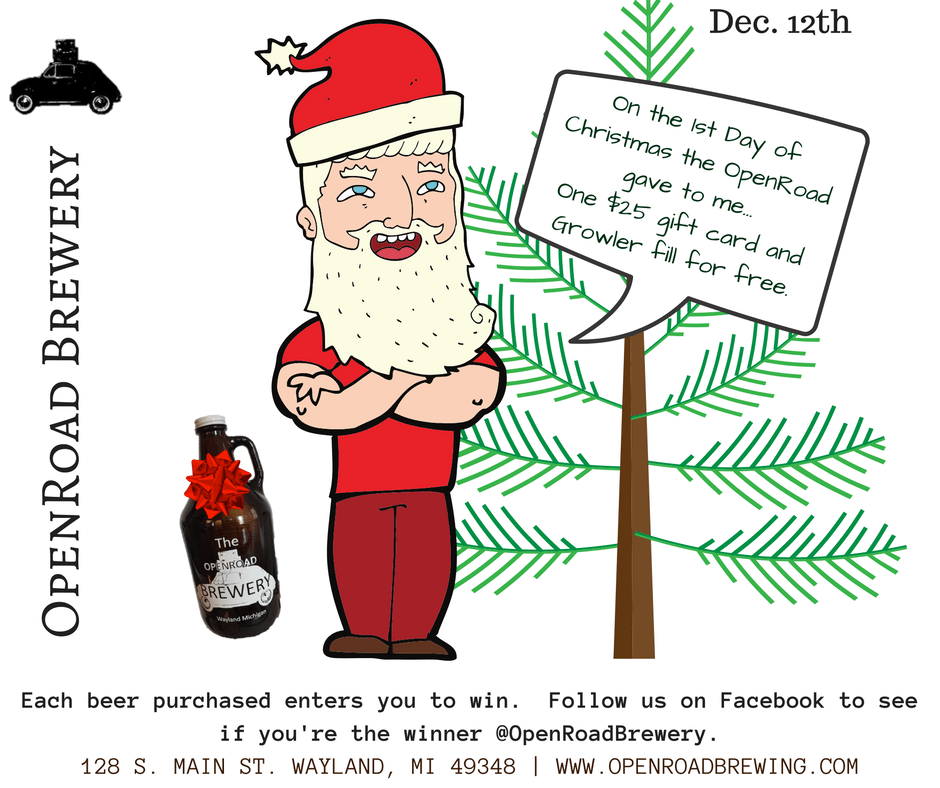 12 days of christmas at the openroad brewery