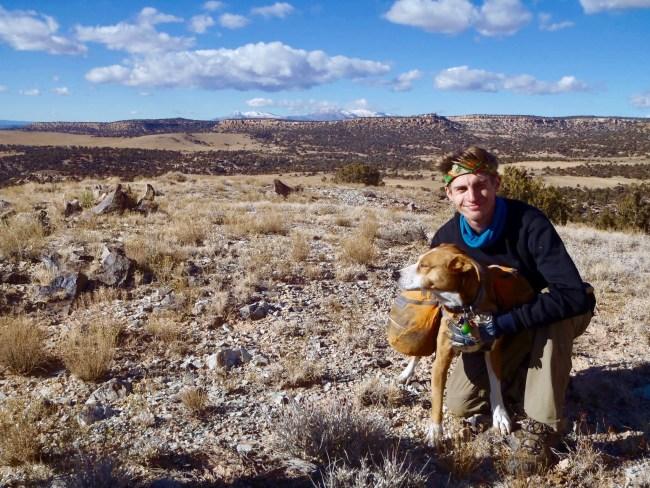 Open Sky Alumni with dog