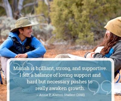 Mariah Loftin student anniversary quote