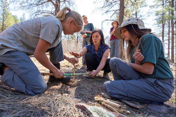 Julia Lehr Teaching Bow Drilling