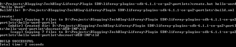 Create Liferay portlet - Portlet Creation from Command Prompt