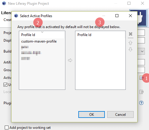 liferay maven plugin - configure maven profile in eclipse