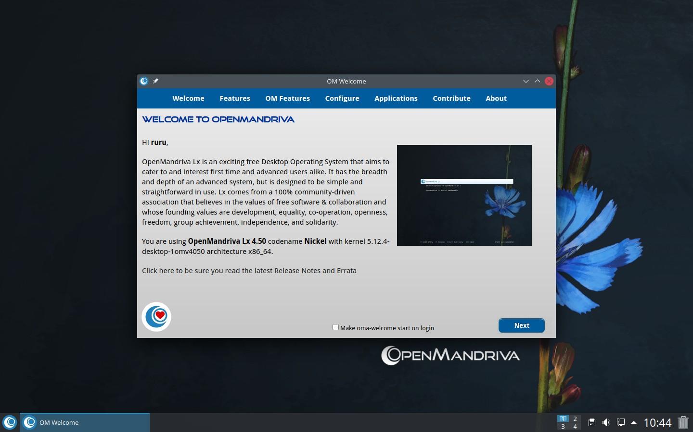 Preview of OpenMandriva Lx 4.3 Desktop - Latte Dock mode