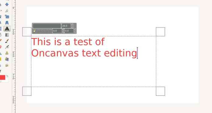 On-canvas text editing