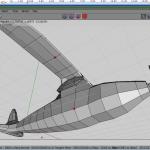 Select upper wing vertex, bevel for supporter