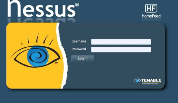 Nessus welcome screen