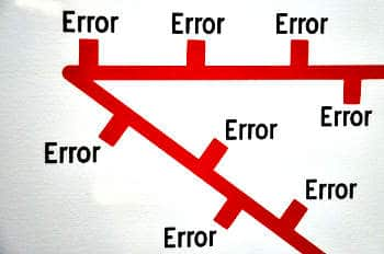 Errors everywhere you go!