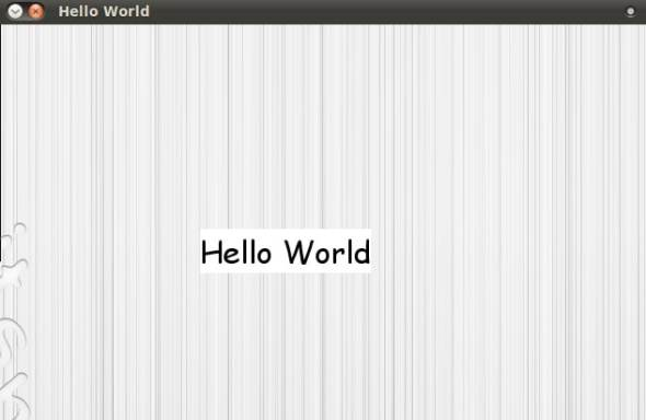 'Hello World'