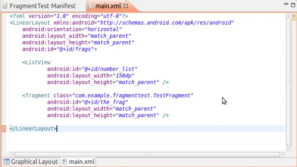 The main.xml file